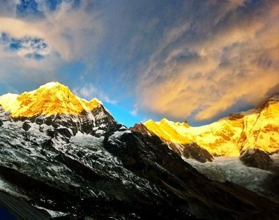 Annapurna, Royal Trek, morning Annapurna